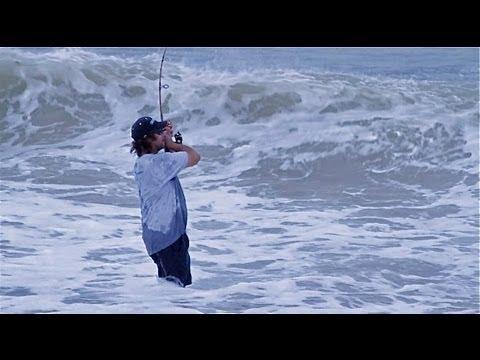 Amazing Hurricane Irene Storm Fishing