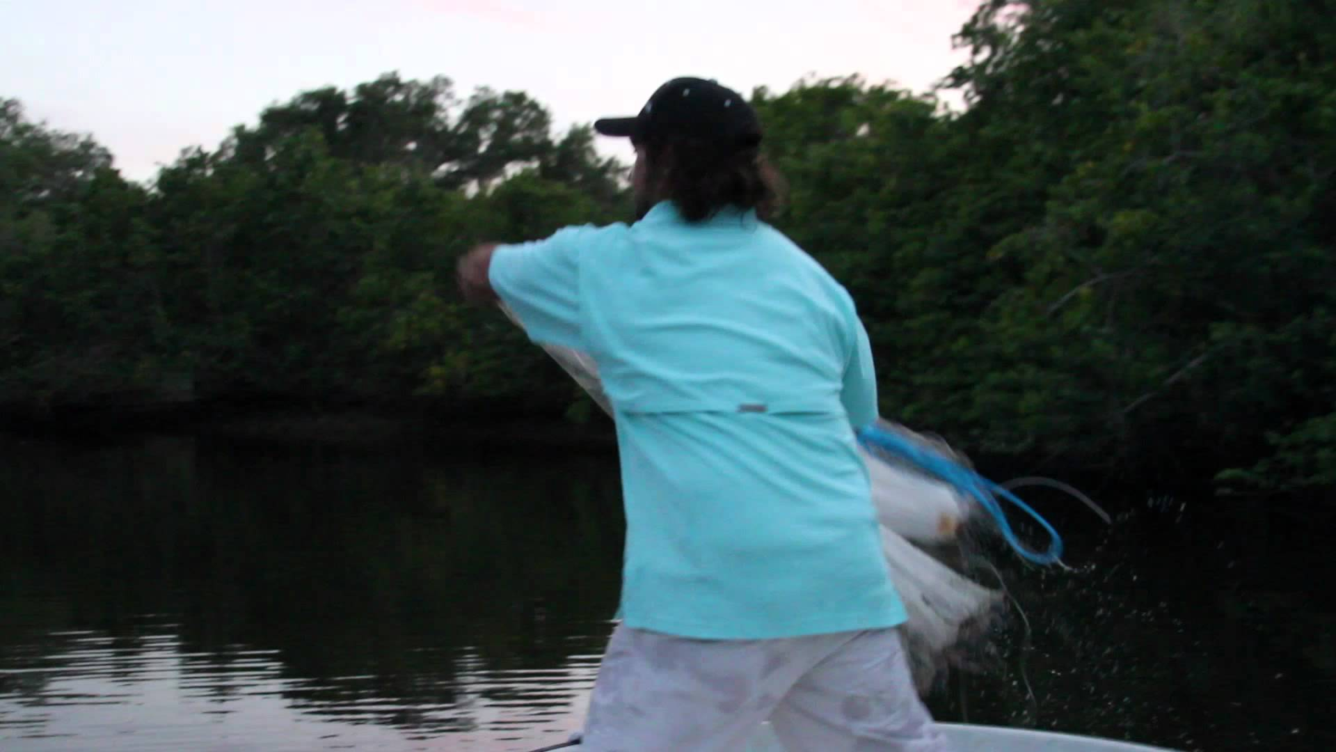 Cast Net Throw – Slow Motion