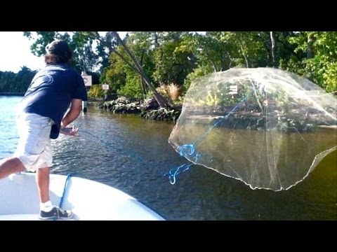 Cast Net Throw SUPER SLOW MOTION