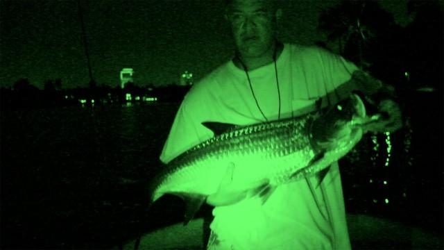 INSANE Underwater Nightvision Fishing