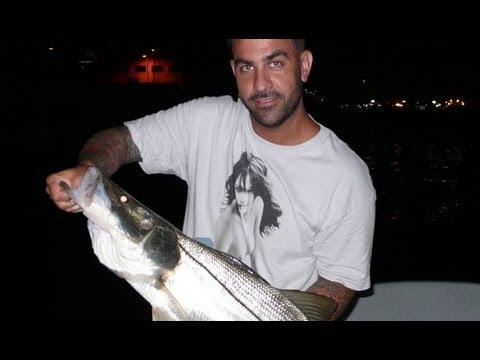 Miami Ink Chris Nunez catches Monster Snook!