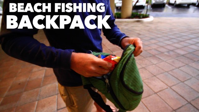 Fishing Gear – Beach Fishing Backpack for Extreme Beach Fishing with a Backpack