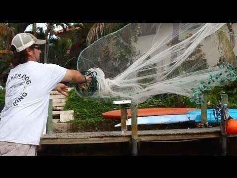 Super Slow Motion Cast Net Throw
