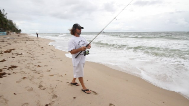 Beach FIshing Bait Report 07 18 2013 Mullet Run