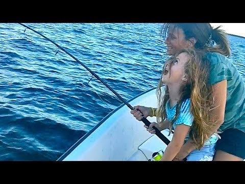 Lil Girl Catches Fish Bigger Than She Is