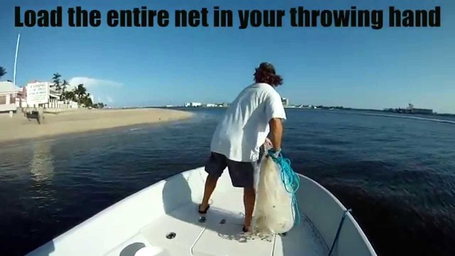 Super Slow Motion Cast Net Throw with Tips