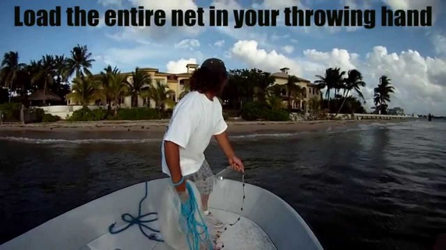 How To Throw A Cast Net Super Slow Motion